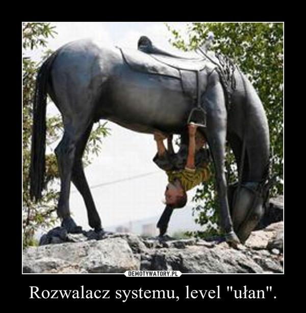 """Rozwalacz systemu, level """"ułan"""". –"""