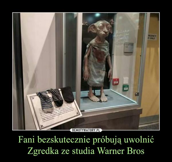 Fani bezskutecznie próbują uwolnić Zgredka ze studia Warner Bros –