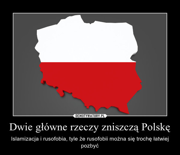 Dwie główne rzeczy zniszczą Polskę – Islamizacja i rusofobia, tyle że rusofobii można się trochę łatwiej pozbyć
