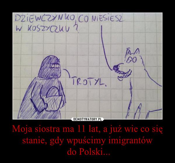 Moja siostra ma 11 lat, a już wie co się stanie, gdy wpuścimy imigrantów do Polski... –