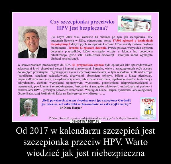 Od 2017 w kalendarzu szczepień jest szczepionka przeciw HPV. Warto wiedzieć jak jest niebezpieczna –