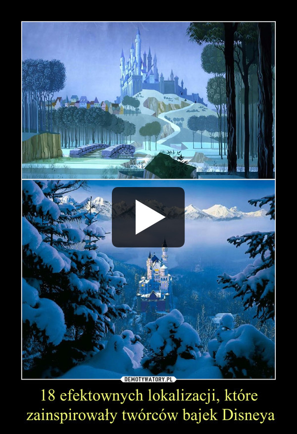 18 efektownych lokalizacji, które zainspirowały twórców bajek Disneya –