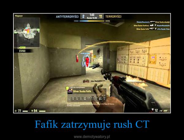 Fafik zatrzymuje rush CT –