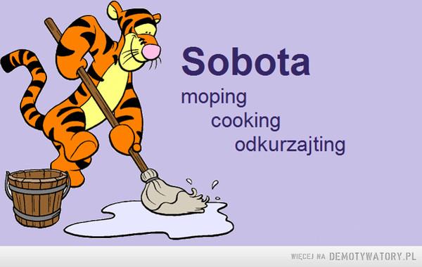 Sobota –  Sobotamopingcookingodkurzajting