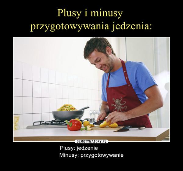 – Plusy: jedzenie                Minusy: przygotowywanie