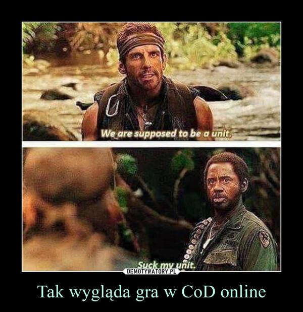 Tak wygląda gra w CoD online –