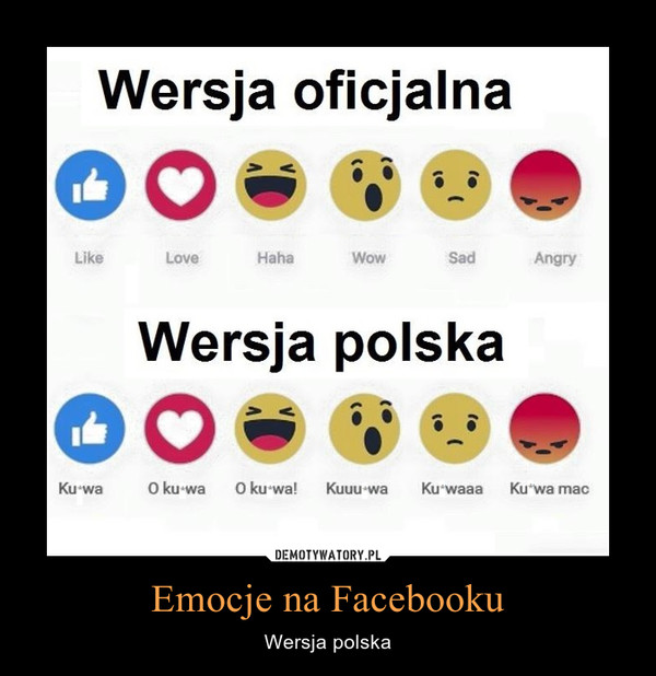 Emocje na Facebooku – Wersja polska