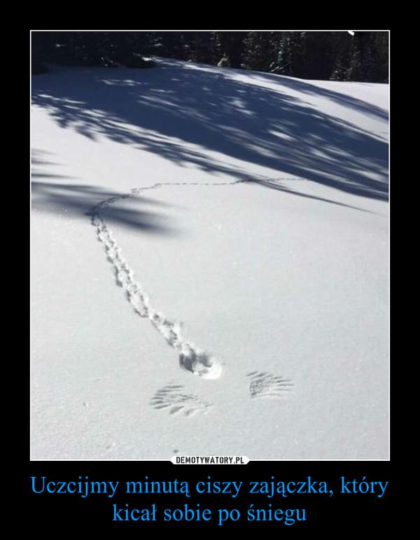 Uczcijmy minutą ciszy zajączka, który kicał sobie po śniegu