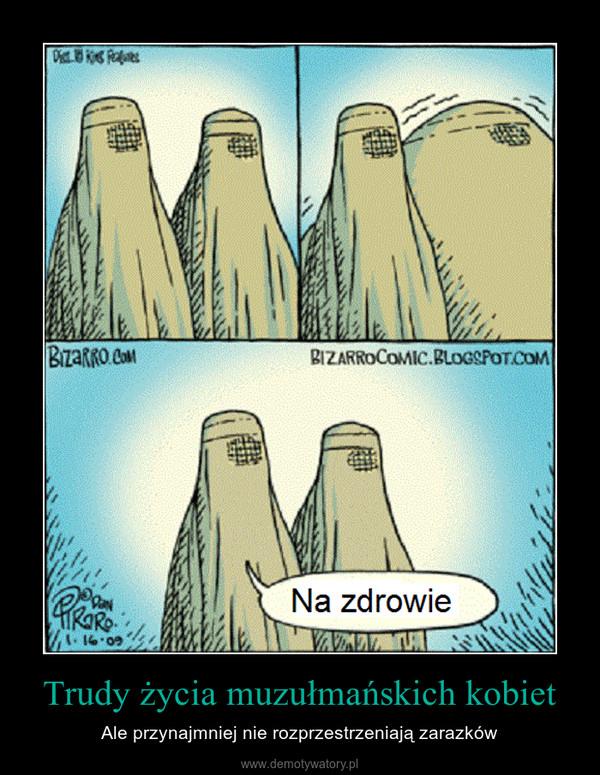 Trudy życia muzułmańskich kobiet – Ale przynajmniej nie rozprzestrzeniają zarazków
