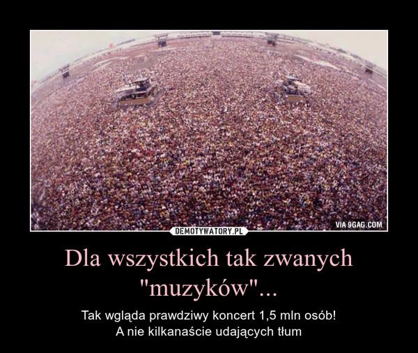 """Dla wszystkich tak zwanych """"muzyków""""... – Tak wgląda prawdziwy koncert 1,5 mln osób!A nie kilkanaście udających tłum"""