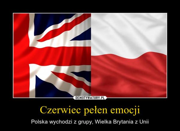 Czerwiec pełen emocji – Polska wychodzi z grupy, Wielka Brytania z Unii