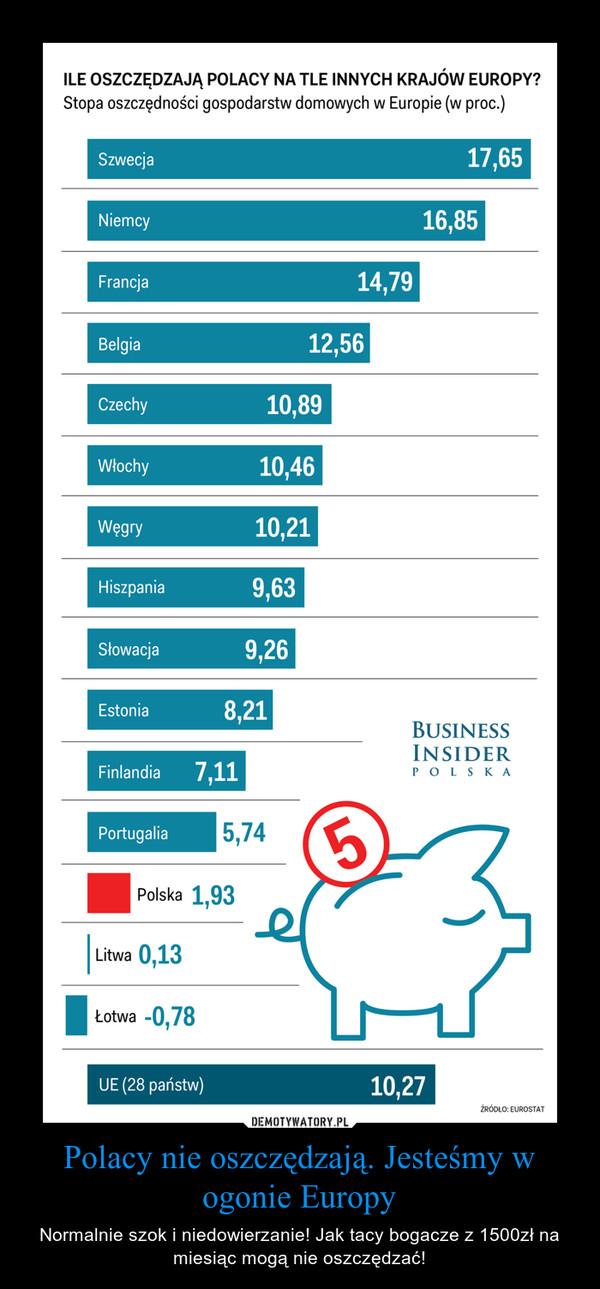 Polacy nie oszczędzają. Jesteśmy w ogonie Europy – Normalnie szok i niedowierzanie! Jak tacy bogacze z 1500zł na miesiąc mogą nie oszczędzać! ILE OSZCZĘDZAJĄ POLACY NA TLE INNYCH KRAJÓW EUROPY?