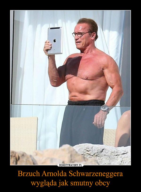 Brzuch Arnolda Schwarzeneggera wygląda jak smutny obcy –