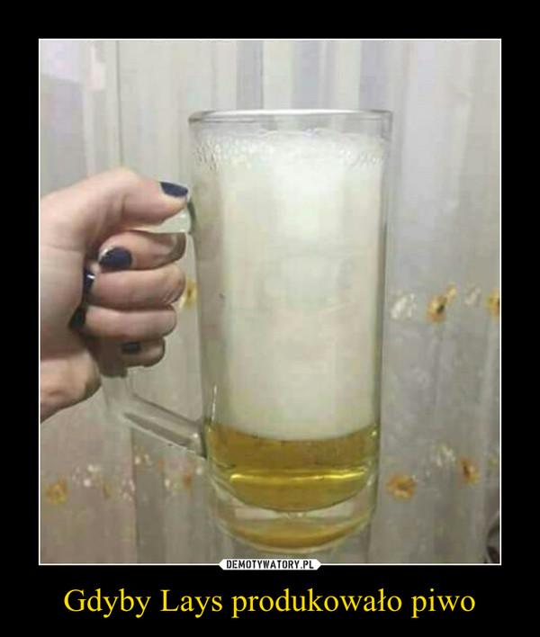 Gdyby Lays produkowało piwo –