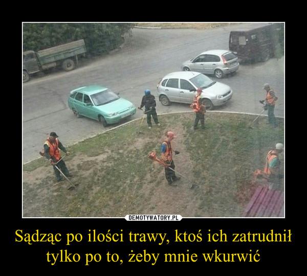 Sądząc po ilości trawy, ktoś ich zatrudnił tylko po to, żeby mnie wkurwić –