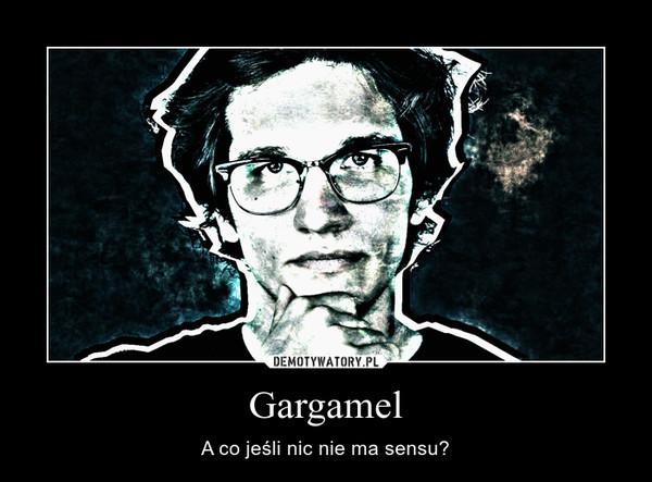 Gargamel – A co jeśli nic nie ma sensu?