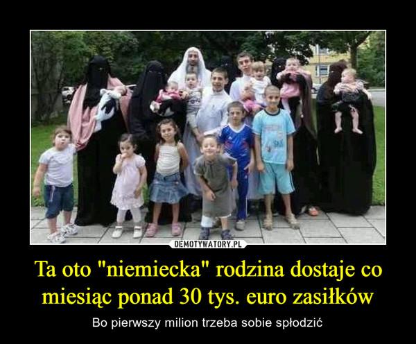 """Ta oto """"niemiecka"""" rodzina dostaje co miesiąc ponad 30 tys. euro zasiłków – Bo pierwszy milion trzeba sobie spłodzić"""
