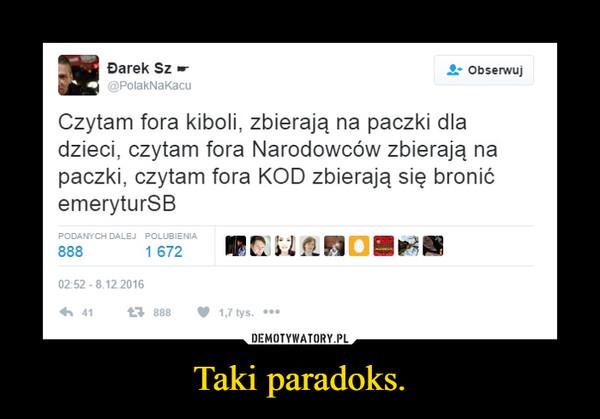 Taki paradoks. –