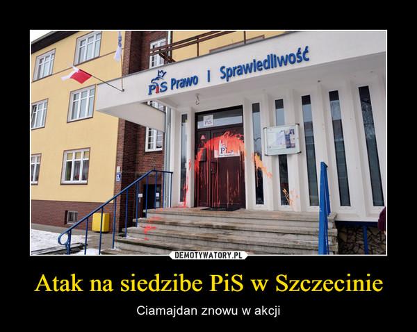 Atak na siedzibe PiS w Szczecinie – Ciamajdan znowu w akcji