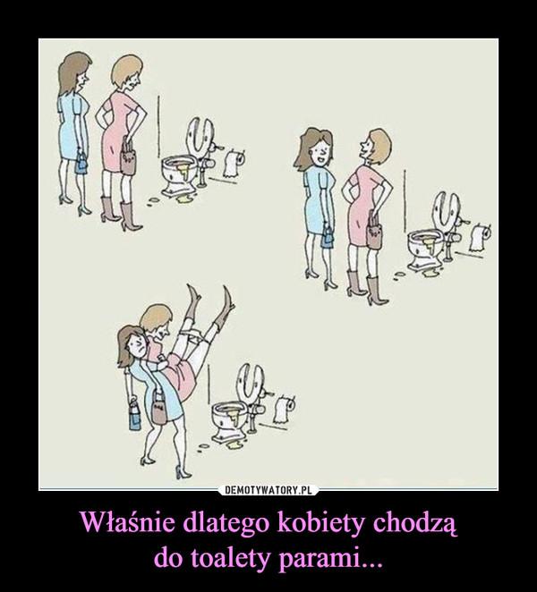 Właśnie dlatego kobiety chodządo toalety parami... –