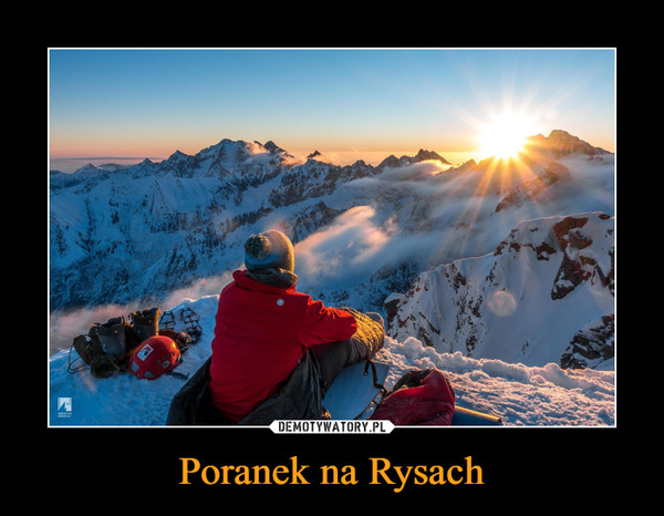 Poranek na Rysach –