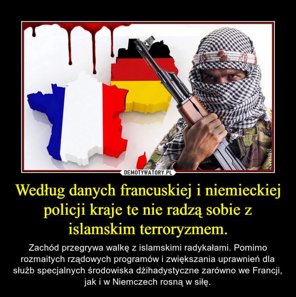 Według danych francuskiej i niemieckiej policji kraje te nie radzą sobie z islamskim terroryzmem. – Zachód przegrywa walkę z islamskimi radykałami. Pomimo rozmaitych rządowych programów i zwiększania uprawnień dla służb specjalnych środowiska dżihadystyczne zarówno we Francji, jak i w Niemczech rosną w siłę.