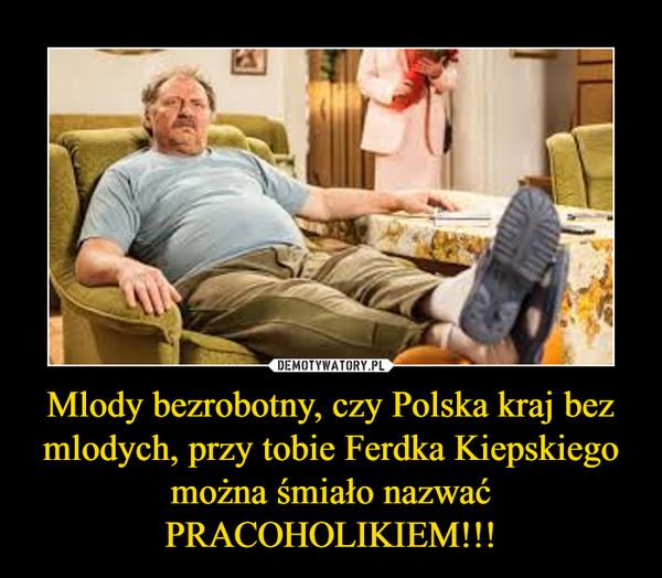 Mlody bezrobotny, czy Polska kraj bez mlodych, przy tobie Ferdka Kiepskiego można śmiało nazwać PRACOHOLIKIEM!!! –