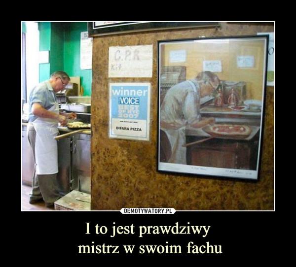 I to jest prawdziwy mistrz w swoim fachu –  winner voice best of nyc 2007 pizza
