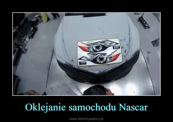 Oklejanie samochodu Nascar –