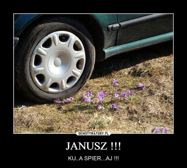 JANUSZ !!! – KU..A SPIER...AJ !!!