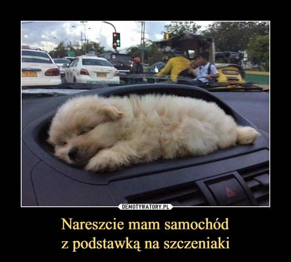 Nareszcie mam samochódz podstawką na szczeniaki –