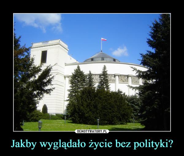Jakby wyglądało życie bez polityki? –