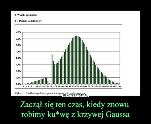 Zaczął się ten czas, kiedy znowu robimy ku*wę z krzywej Gaussa –