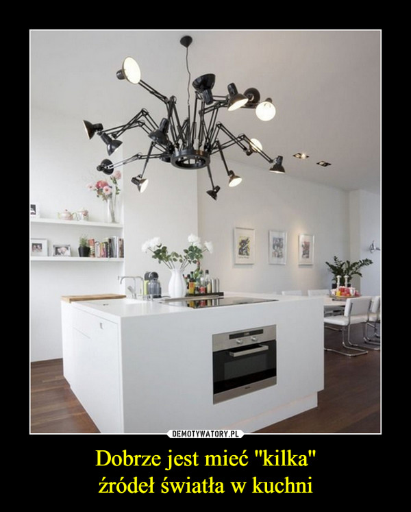 Dobrze jest mieć ''kilka''źródeł światła w kuchni –