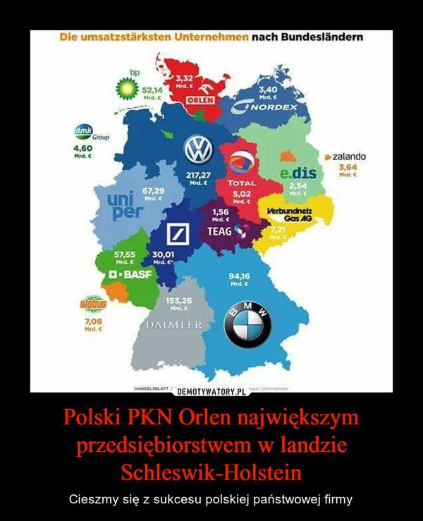 Polski PKN Orlen największym przedsiębiorstwem w landzie Schleswik-Holstein – Cieszmy się z sukcesu polskiej państwowej firmy