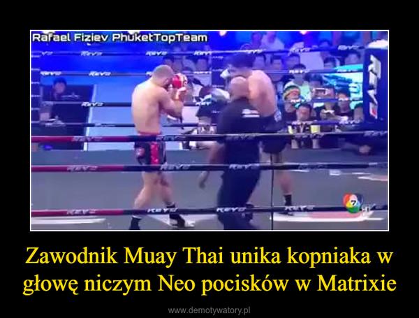 Zawodnik Muay Thai unika kopniaka w głowę niczym Neo pocisków w Matrixie –