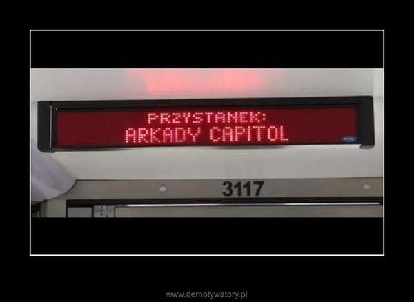 W końcu! – Zremiksowana zapowiedź wrocławskiego przystanku Arkady Capitol.