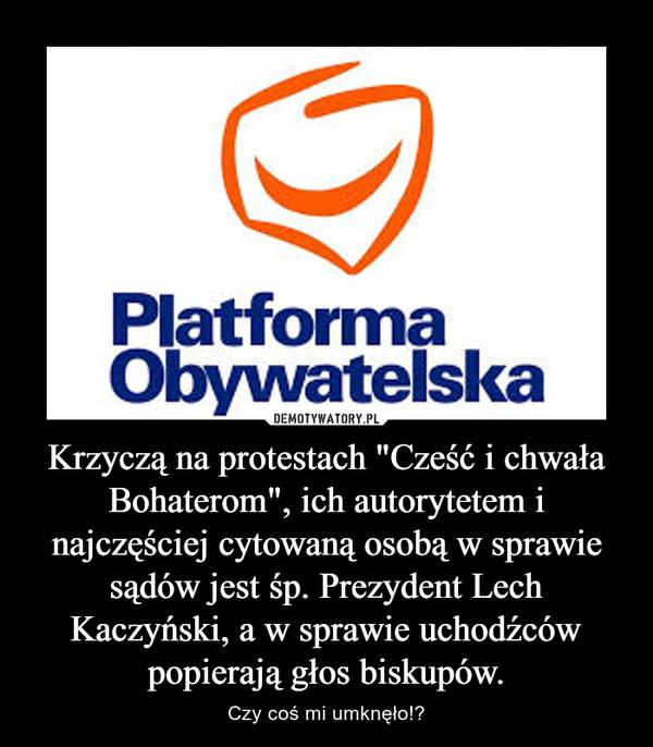 """Krzyczą na protestach """"Cześć i chwała Bohaterom"""", ich autorytetem i najczęściej cytowaną osobą w sprawie sądów jest śp. Prezydent Lech Kaczyński, a w sprawie uchodźców popierają głos biskupów. – Czy coś mi umknęło!?"""