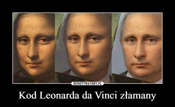 Kod Leonarda da Vinci złamany –