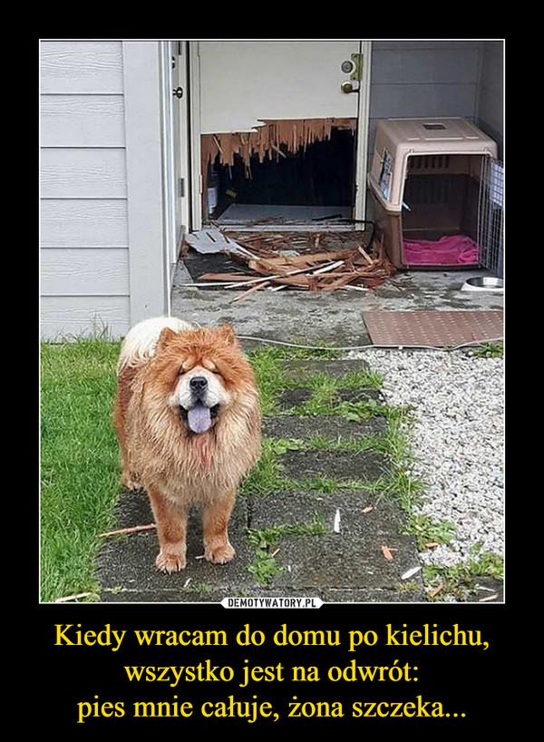 Kiedy wracam do domu po kielichu, wszystko jest na odwrót:pies mnie całuje, żona szczeka... –