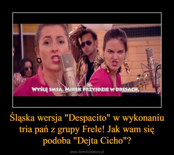 """Śląska wersja """"Despacito"""" w wykonaniu tria pań z grupy Frele! Jak wam się podoba """"Dejta Cicho""""? –"""