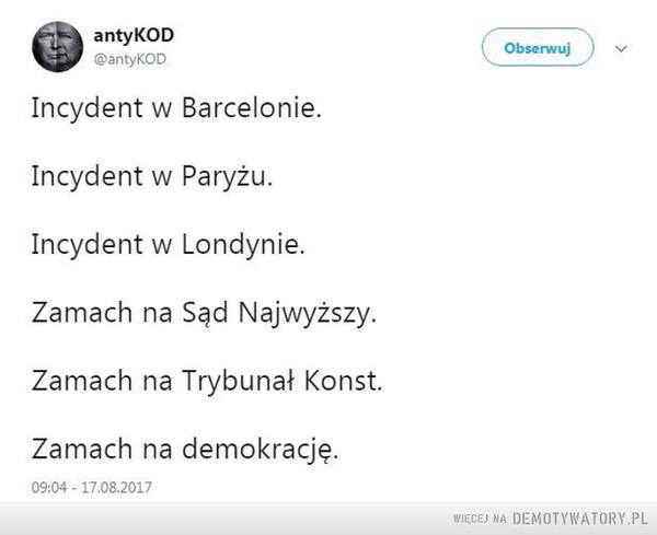 Incydent vs. Zamach –