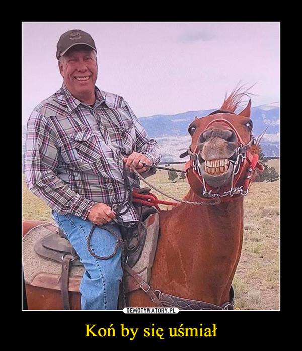 Koń by się uśmiał –