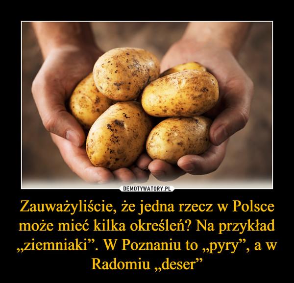 """Zauważyliście, że jedna rzecz w Polsce może mieć kilka określeń? Na przykład """"ziemniaki"""". W Poznaniu to """"pyry"""", a w Radomiu """"deser"""" –"""