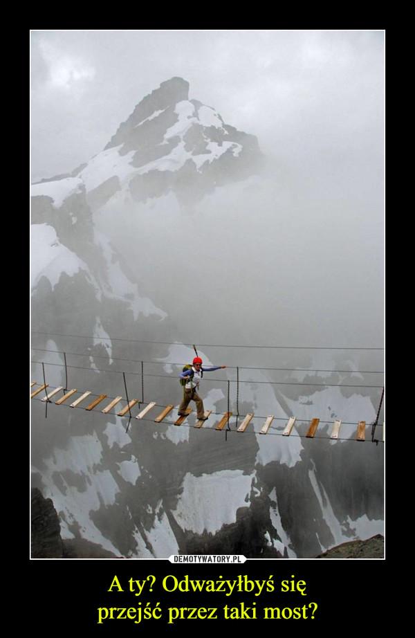 A ty? Odważyłbyś sięprzejść przez taki most? –