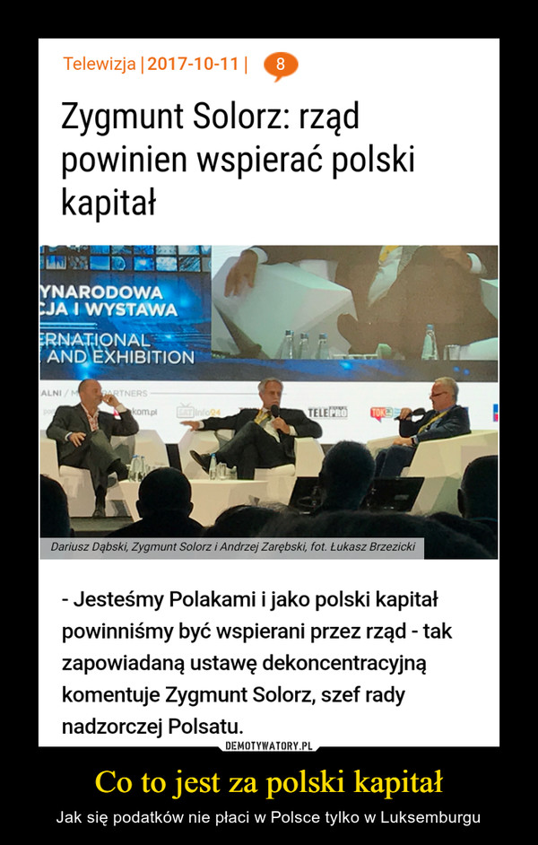 Co to jest za polski kapitał – Jak się podatków nie płaci w Polsce tylko w Luksemburgu