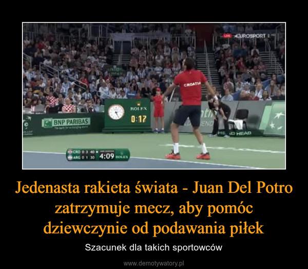 Jedenasta rakieta świata - Juan Del Potro zatrzymuje mecz, aby pomóc dziewczynie od podawania piłek – Szacunek dla takich sportowców