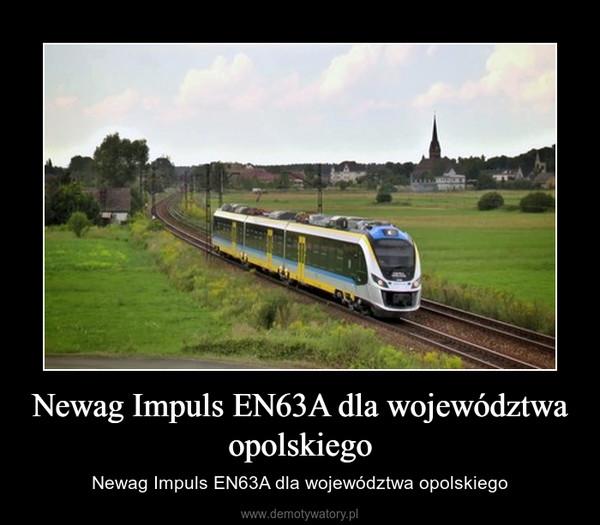 Newag Impuls EN63A dla województwa opolskiego – Newag Impuls EN63A dla województwa opolskiego