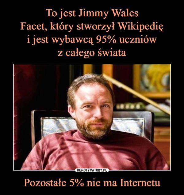 Pozostałe 5% nie ma Internetu –