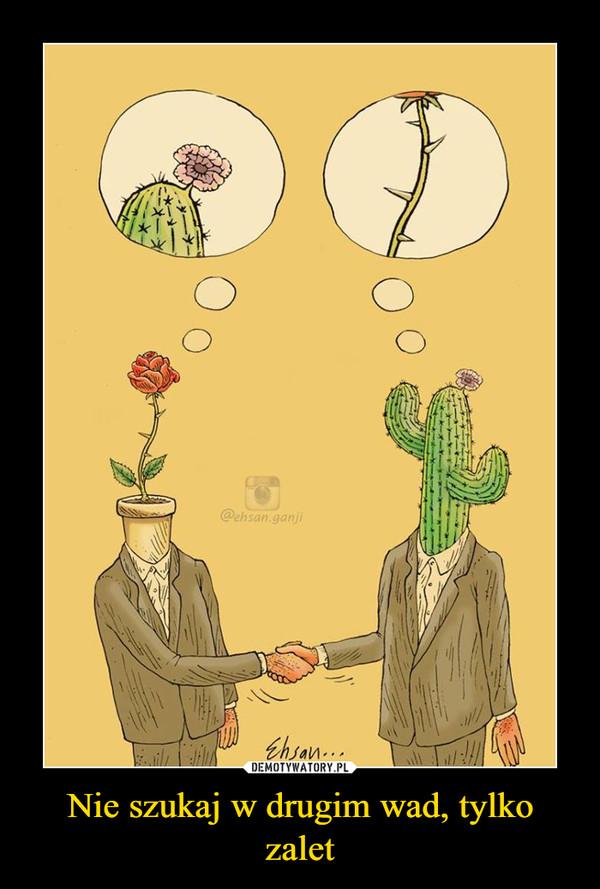 Nie szukaj w drugim wad, tylko zalet –